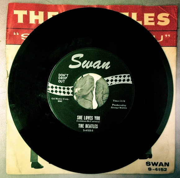 """Don't Drop Out"" was added to the labels of all of Swan's 45s to discourage juvenile delinquency and keep kids in school."